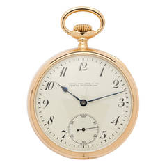 Patek Philippe Yellow Gold Pocket Watch Retailed by Shreve Crump & Low