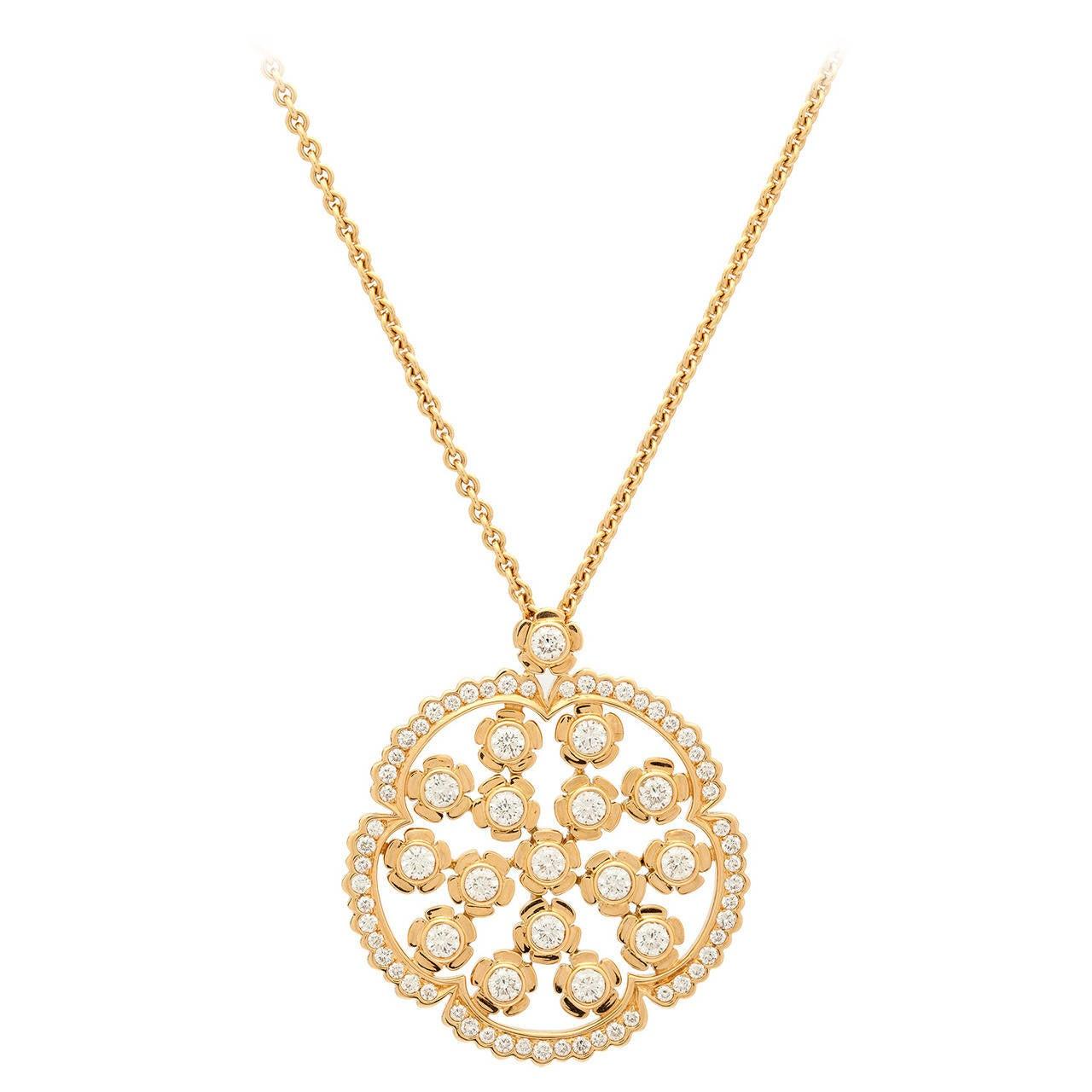 Louis Julian Et Fils Diamond Pendant Necklace