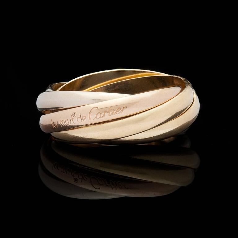 4f81106fa7534 Cartier Les Must de Cartier Trinity Three Color Gold Five Band Ring