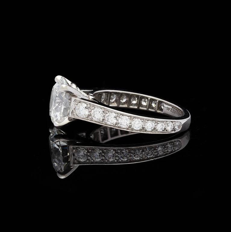 854c54e3d3c53 Cartier 1895 2.41 Carat GIA Certified Diamond Platinum Solitaire Engagement  Ring
