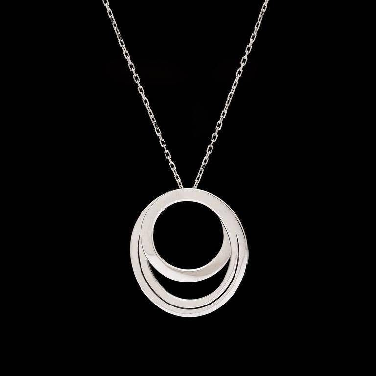 Contemporary Cartier Paris Nouvelle Vague Diamond Gold Necklace For Sale