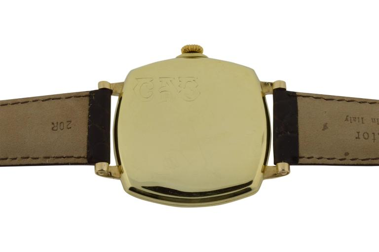 Longines for Tiffany & Co. Yellow Gold Watch In Excellent Condition For Sale In Venice, CA