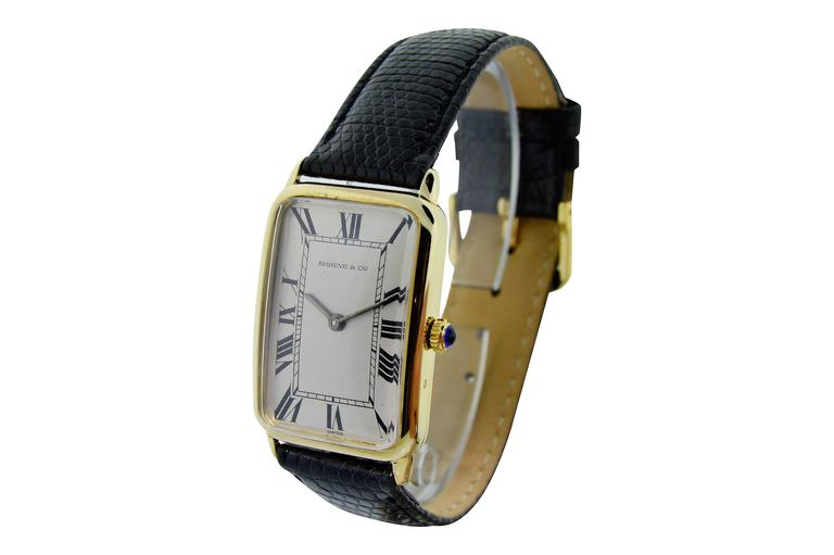 Women's or Men's Concord for Shreve & Co. Yellow Gold Manual Wind Watch For Sale