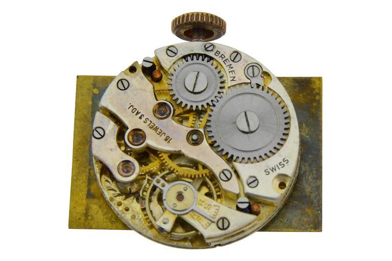 J. E. Caldwell Yellow Gold Sterling Silver Doctors Hand Constructed Watch For Sale 1