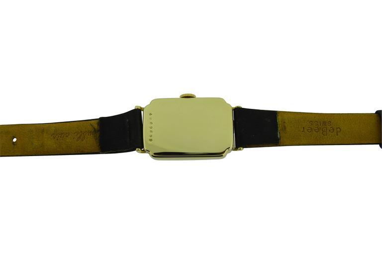 Tiffany & Co. Yellow Gold Manual Wind Wristwatch 4