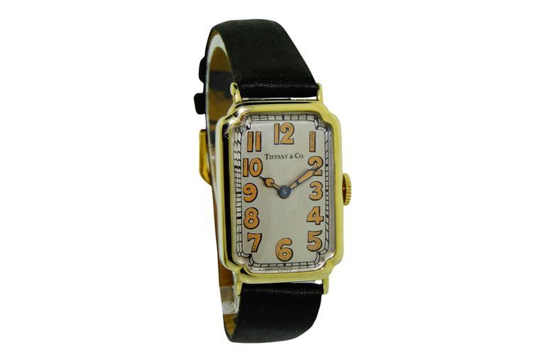 Tiffany & Co. Yellow Gold Manual Wind Wristwatch 2