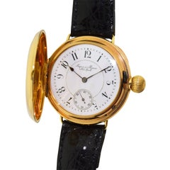 Jaques & Marcus Rose Gold Military Style Manual Wristwatch, circa 1893