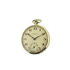 Eberhard & Co. Nickel Silver Open Faced Manual Pocket Watch, circa 1930s