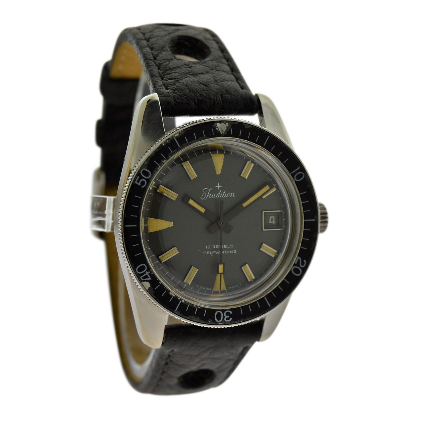 Tradition Stainless Steel Sport Style Automatic Wristwatch, circa 1960s