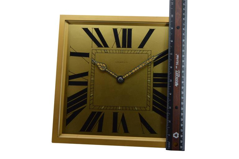 1920s Tiffany & Co. Brass and Gilt Art Deco Clock 3