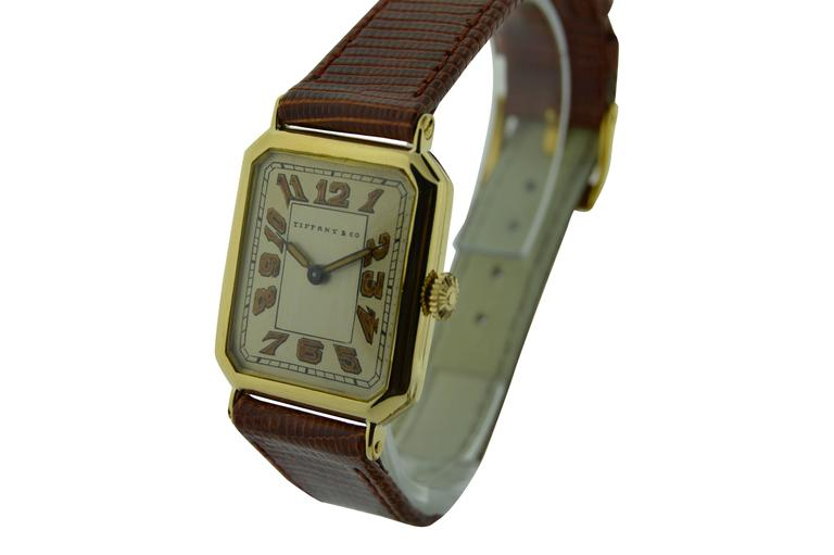 FACTORY / HOUSE: Longines, Tiffany & Co. STYLE / REFERENCE: Art Deco, Hinged Case,  MOVEMENT / CALIBER: Longines, 15 Jewels, Caliber 10.85N. DIAL / HANDS: Silvered with Enamel Print, Luminous, Blued Steel Luminous Hands DIMENSIONS: 36mm X