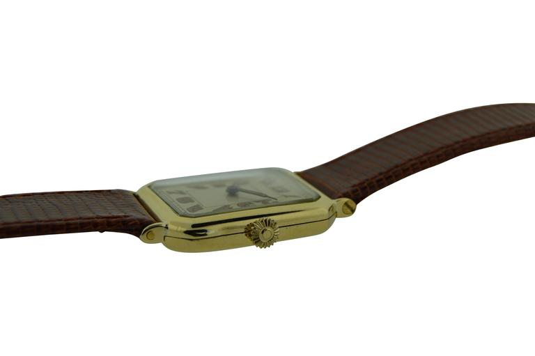 Tiffany & Co. Longines Yellow Gold Watch In Excellent Condition For Sale In Venice, CA