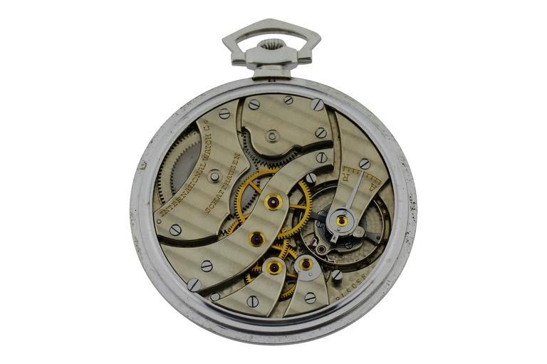 International Watch Company Platinum Tuxedo Pocket Watch 5