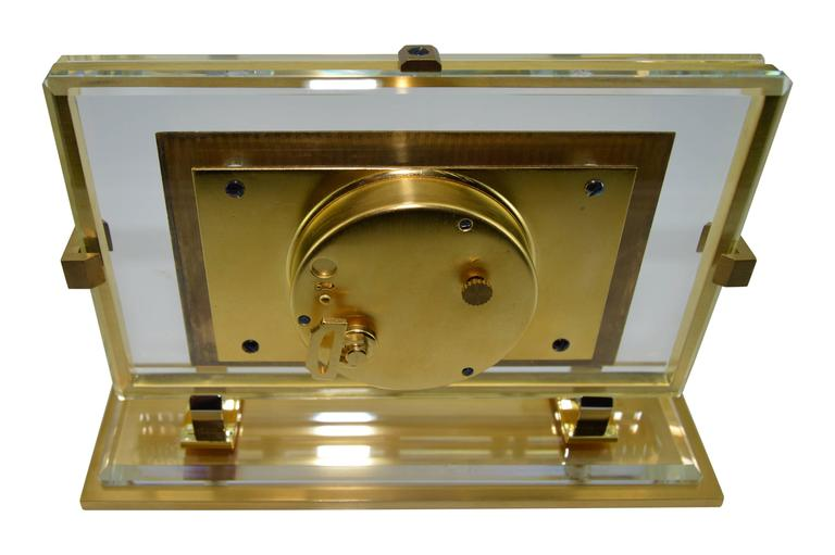 1930s Shreve and Company Art Deco Desk Clock For Sale 2