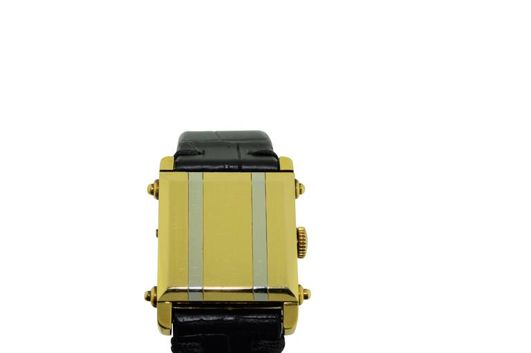 Art Deco Tiffany & Co. Two Color Gold Hunters Case Covered Dial Watch For Sale