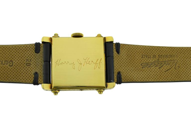 Tiffany & Co. Two Color Gold Hunters Case Covered Dial Watch In Excellent Condition For Sale In Venice, CA