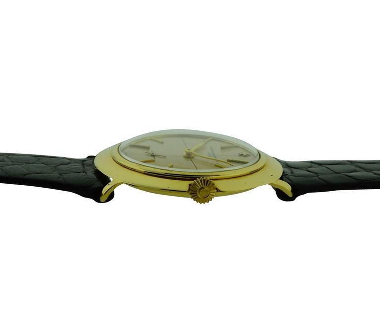 Vacheron & Constantin Yellow Gold Manual Winding Watch, circa 1950s For Sale 1