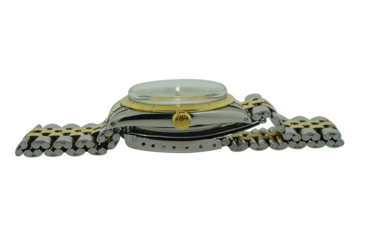 Women's or Men's Rolex Two Tone Yellow Gold Stainless Steel Zephyr 1008 with Original Papers For Sale