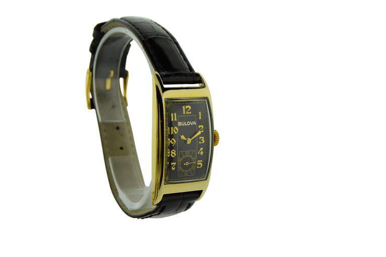 FACTORY / HOUSE: Bulova Watch Company STYLE / REFERENCE: Art Deco /