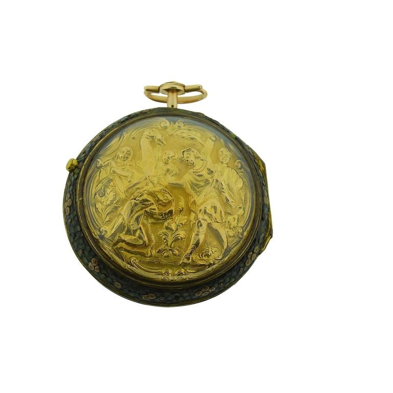 Harry Potter's Watch London 1791 Gold Repousse Verge Fusee For Sale 1