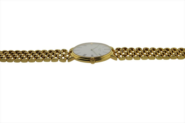 Patek Philippe Yellow Gold Screw Back Bracelet Manual Watch, circa 1970s In Excellent Condition For Sale In Venice, CA