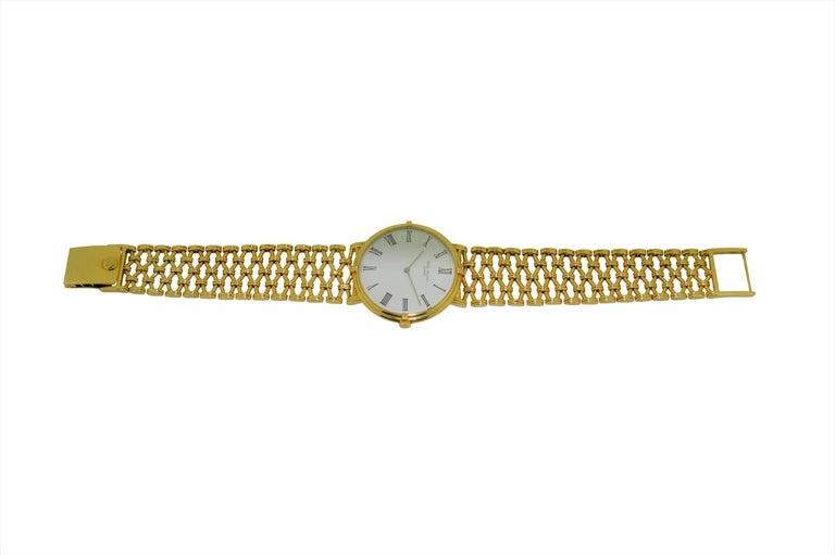 Patek Philippe Yellow Gold Screw Back Bracelet Manual Watch, circa 1970s For Sale 1