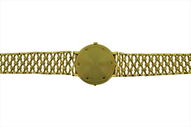 Patek Philippe Yellow Gold Screw Back Bracelet Manual Watch, circa 1970s For Sale 3
