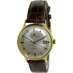 LeCoultre Yellow Gold Filled Date Classic Round Self Winding Watch