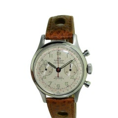 Wakmann Stainless Steel Two Register Chronograph Watch with Original Dial