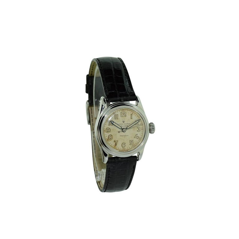 Rolex Falcon Stainless Steel with Original Dial and Hands from 1944 or 1945 For Sale 14