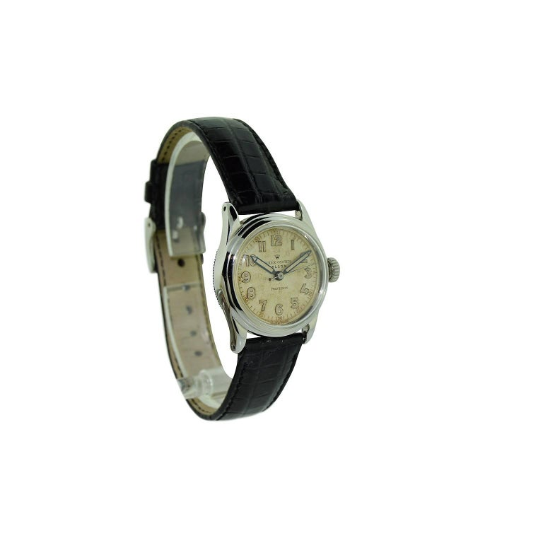 Rolex Falcon Stainless Steel with Original Dial and Hands from 1944 or 1945 For Sale 5