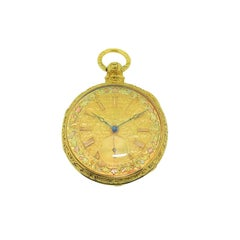 Barwise 18Kt. Yellow Gold Multi Colored Dial Watch Circa 1840's