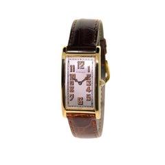 Tiffany & Co. 18Kt. Yellow Gold Art Deco International Watch Co. Rectangle Watch