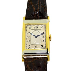 Vacheron Constantin Yellow and White Gold Art Deco Manual Wristwatch