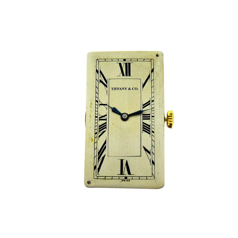 Tiffany and Co. Yellow Gold Super Sized Rectangle Art Deco Manual ...