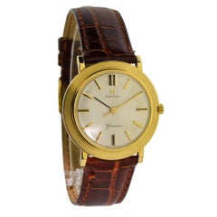 Omega Yellow Gold Manual Wind Dress Watch, circa 1960s