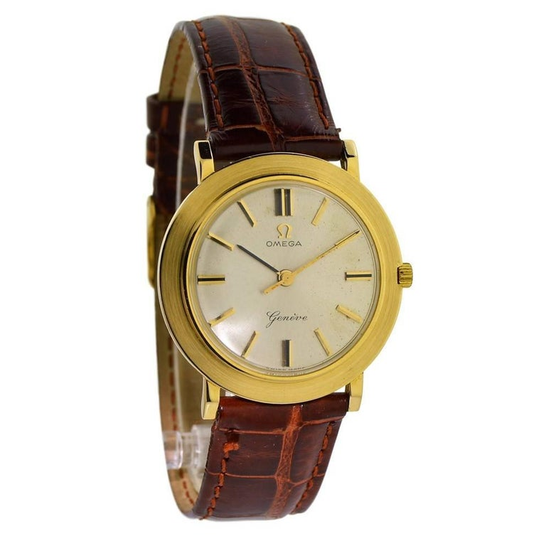 Omega Yellow Gold Manual Wind Dress Watch, circa 1960s