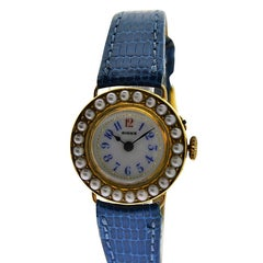 Birks of Canada Ladies yellow gold Pearl Bezel Dress Manual Wristwatch, 1920s