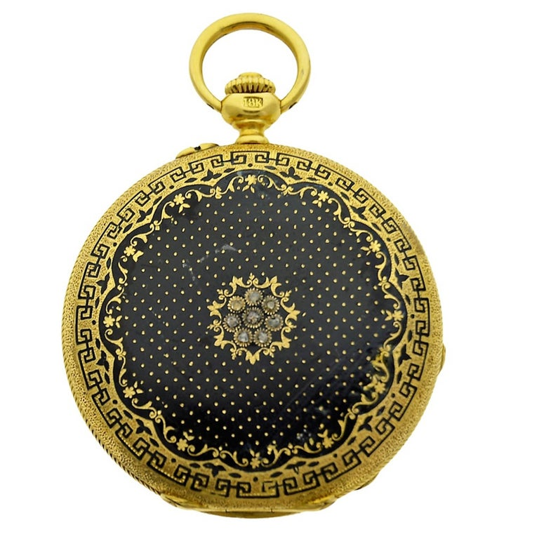 Favre Keywind Conversion to Stemwinding Yellow Gold Hunter's Case Pocket Watch