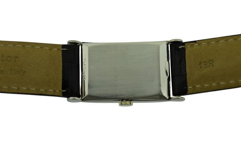 Art Deco Hamilton Platinum Diamond Bezel Watch