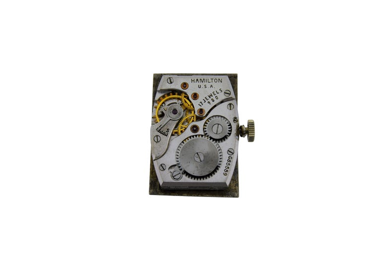 Women's or Men's Hamilton Platinum Diamond Bezel Watch