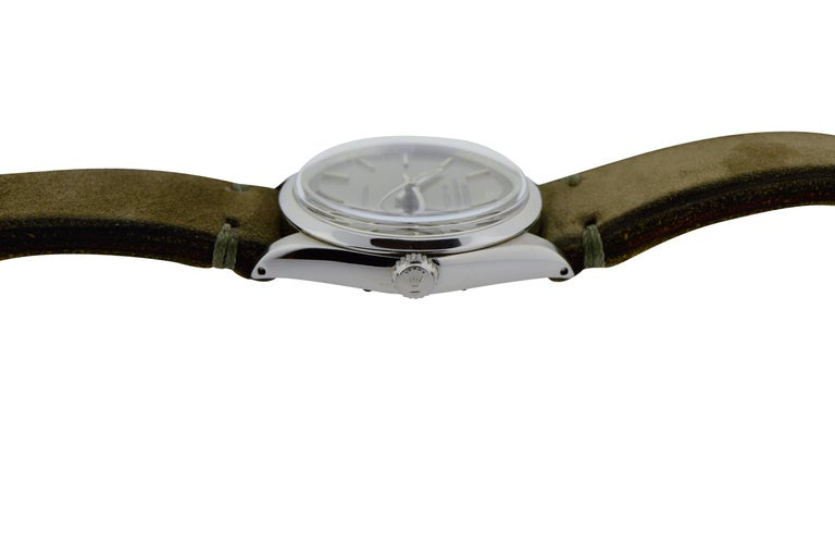 Women's or Men's Rolex Steel Air King Charcoal Dial Circa 1969   For Sale