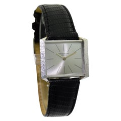 Patek Philippe White Gold Ultra Thin Original Dial Watch with Archival Document