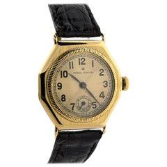 Rolex Yellow Gold Oyster Vintage Octagon Manual Wristwatch, circa 1936