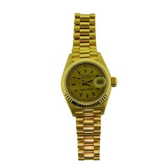 Rolex 18 Karat Yellow Gold Ladies President Series