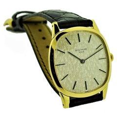 Patek Philippe 18 Karat Yellow Gold Cushion Shaped Watch, circa 1960s