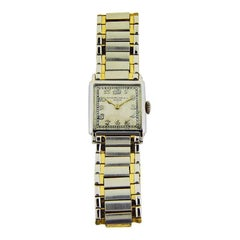 Patek Philippe 18 Karat Two-Tone Art Deco Unisex Wrist Watch, circa 1920s