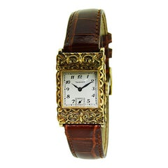 Tavannes 14 Karat Yellow Gold Art Deco Hand Constructed Case, circa 1930s