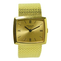 Patek Philippe 18 Karat Yellow Gold Ladies Bracelet Watch