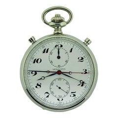 Longines Olympic's Split Seconds Chronograph circa 1930s Kiln Fired Enamel Dial
